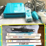 Nintendo wii bundle ~ limited edition blue! With games in Fort Leonard Wood, Missouri