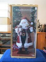 "32""H Standing Decorative Santa w/bear. New in Box in Beaufort, South Carolina"