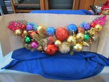 "Gorgeous Holiday Jewel Colored Balls Swag 41""W x 12""H NEW! in Beaufort, South Carolina"