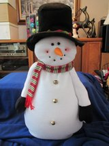 "30"" H. Felt Snowman w/floppy Black hat, Bell buttons & scarf in Beaufort, South Carolina"