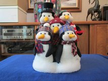 "Penguin Family w/scarfs 14""H x 11""W in Beaufort, South Carolina"