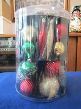 Shatter-Resistant Assorted Shapes & Sizes Ornaments-NEW in BOX in Beaufort, South Carolina