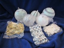 Designer 55 pc. Assorted Shapes & Sizes Ornaments-NEW in Box-White in Beaufort, South Carolina