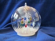 "7"" Sorelle Glass LED Lighted Globe Tree Table-top Ornament NEW in box. in Beaufort, South Carolina"