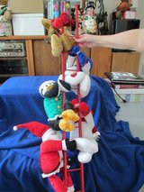 "4"" Red wooden ladder w/5 Plush figures climbing up ladder. in Beaufort, South Carolina"
