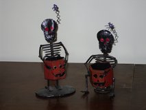 skeleton votive holders-halloween in Glendale Heights, Illinois