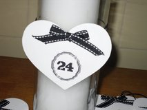 wedding table numbers in Glendale Heights, Illinois