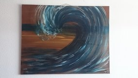Large wave painting - PCS Sale in Ramstein, Germany
