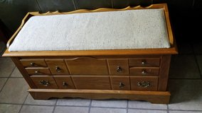 UPHOLSTERED CEDAR HOPE CHEST BENCH-FINAL REDUCTION in Naperville, Illinois