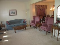 Couch, Wingback Chairs, & Tables Set in Naperville, Illinois