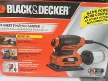 Black & Decker 1/4 Sheet Finishing Sander with filter 120volts in Stuttgart, GE