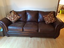 Brown leather Sofa in Wiesbaden, GE