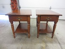 Two Solid Cherry End Tables or Nightstands in Fairfield, California