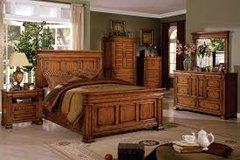 CAMBRIDGE GIANT OAK FINISH BED in Fort Irwin, California