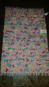 New / Pink Glitter Shag Rug in Fort Campbell, Kentucky