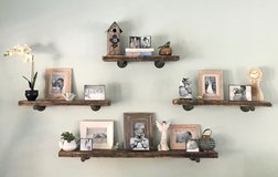 Set of 4 - Industrial Pipe Shelves in Conroe, Texas