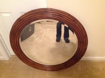 Large Round Wood Ethan Allen Mirror in 29 Palms, California