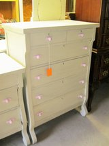 Antique Painted Wood 6-Drawer Dresser (1767-3) in Camp Lejeune, North Carolina