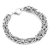 "***BRAND NEW***Women's Stainless Steel Intricate Byzantine Bracelet 8""*** in Cleveland, Texas"