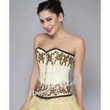Glorious Yellow Sequined Stunning Overbust Corset NS-1229 in Fort Meade, Maryland
