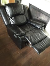 Black leather rocker/glider recliner in League City, Texas