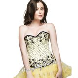 Glorious Yellow Sequiened Overbust Corset NS-1292 in Fort Meade, Maryland
