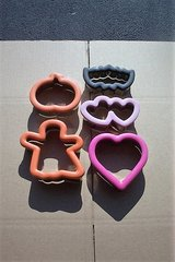 HOLLOWEEN AND HEART COOKIE CUTTERS ( 5 PCS. ) in Bartlett, Illinois
