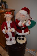 christmas animated santa and ms clause set pick up joliet, il 60435 in Joliet, Illinois