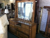 Large Dresser (missing middle drawer) W/ Hutch Mirror in Fort Polk, Louisiana