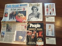 Princess Diana Collectibles - Stamps, Newspaper, 2 People Magazines & Elton John unopened CD in Bolingbrook, Illinois