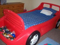 Little Tikes Hot Wheels Tykes Red Race Car Twin Bed in 29 Palms, California