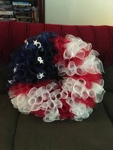 Large Red, White and Blue Wreath in Camp Lejeune, North Carolina