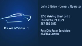 Windshield Rock chip and crack repair. 1 in 3 cars has a small chip on the windshield that left ... in Philadelphia, Pennsylvania