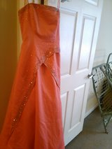 Size 7 Orange Ball Gown. in Beaufort, South Carolina