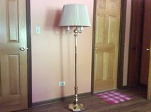 Brass floor lamp with 3 bulbs in Chicago, Illinois