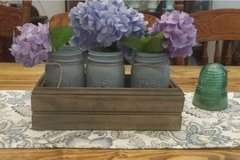 Rustic Planter Box with Mason/Canning Jars in Perry, Georgia