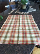 Red / Gold / Green Plaid Table Runner in Bolingbrook, Illinois