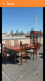 wood 6 or 8 person dinning table and China cabinet in Fort Irwin, California