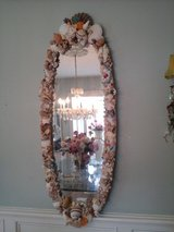 Cottage chic large oval shell mirror in Westmont, Illinois