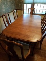16 piece oak queen anne style dining room set - excellent condition in Batavia, Illinois
