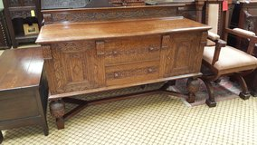 Carved Tiger Oak Sideboard others available free delivery in Lakenheath, UK