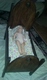 old real wood doll bed in Beaufort, South Carolina