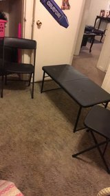 Adjustable folding table and chairs in Lawton, Oklahoma