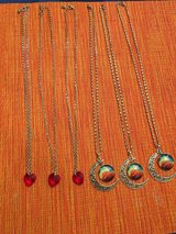 Heart and Moon necklaces in Conroe, Texas