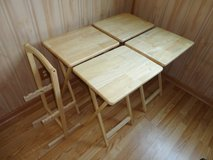 4 in 1 Wood Space-Saving Tables W19'' x D14.5'' x H26'' Made in Thailand in Lockport, Illinois