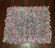 """Pink and Grey hand made """" Rag Rug """" in DeRidder, Louisiana"""