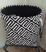 Large Black and White Basket from Kirklands in Columbus, Georgia