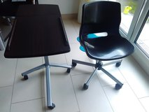 Table & chair with WHEELS / ADJUSTABLE in Stuttgart, GE