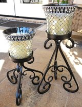 Candle Holder Glass Shades (2) in Cleveland, Texas