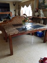 Solid marble top dining table in Lockport, Illinois